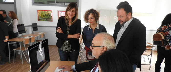 Inaugurado el aula de nuevas tecnologías del IES Azuer de Manzanares