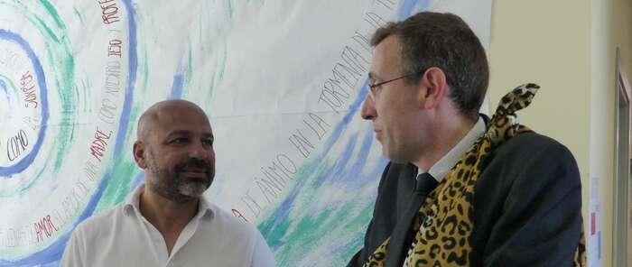 José García Molina conoce los proyectos de educación del CPEE 'Virgen del Amparo' de Guadalajara y el IESO Número 1 de Alovera