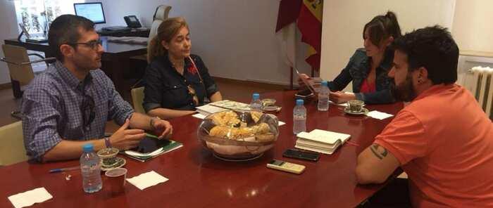 Inmaculada Herranz se reúne con representantes de la Federación Plena Inclusión de Castilla-La Mancha