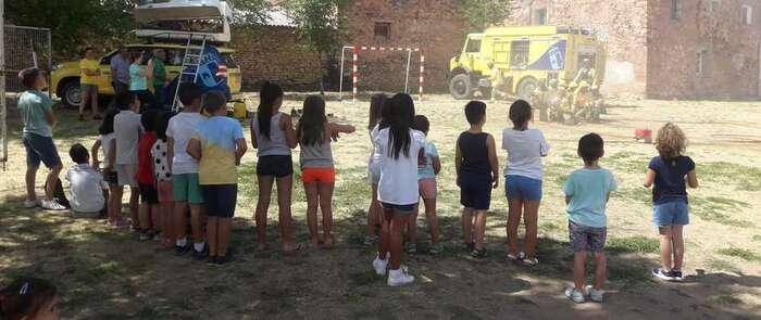 Geacam desarrolla una jornada de educación ambiental con un grupo de alumnos en Checa (Guadalajara)