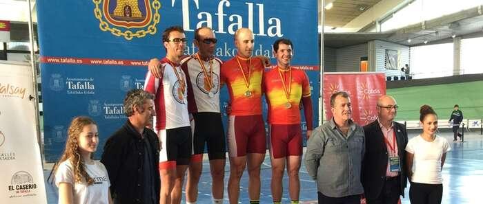 Buenos resultados para la selección de Castilla-La Mancha en el Campeonato de España de pista para junior, cadetes y ciclismo adaptado