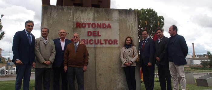 La rotonda del arado romano de Cuenca ya se llama oficialmente 'Rotonda del Agricultor'