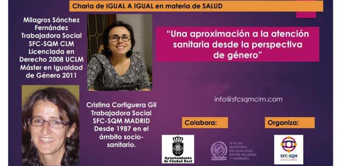 SFC-SQM imparte una charla sobre la atención sanitaria desde la perspectiva de género en Ciudad Real