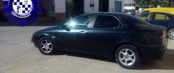 La Policía Local de Valdepeñas localiza un vehículo búlgaro con documentación falsa