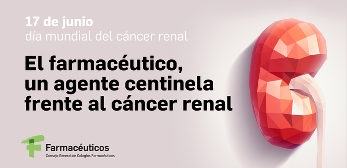 El farmacéutico, un agente centinela frente al cáncer renal