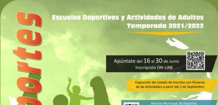 Las Escuelas Deportivas y las actividades de deporte para adultos abren la inscripción