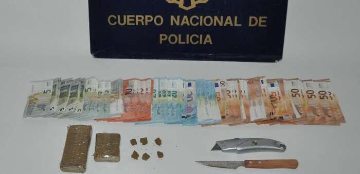 La Policía Nacional desmantela un punto de venta de hachís en Puertollano