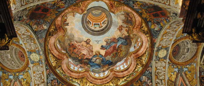 La capilla del Convento de los Trinitarios de Valdepeñas se muestra ya en todo su esplendor