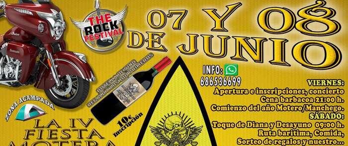 """La Asociación de Motos alcazareña  """"Moñigones Motors Elite"""" ha organizado la IV Fiesta Motera en la Ermita de San Cristóbal"""