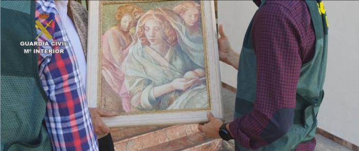 Recuperado en Toledo un cuadro del pintor Miguel Vicens sustraído en el año 2011