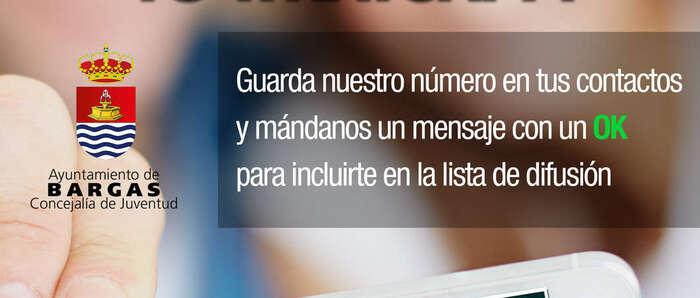 Bargas pone en marcha un nuevo servicio de consulta para jóvenes a través de Whatsaap