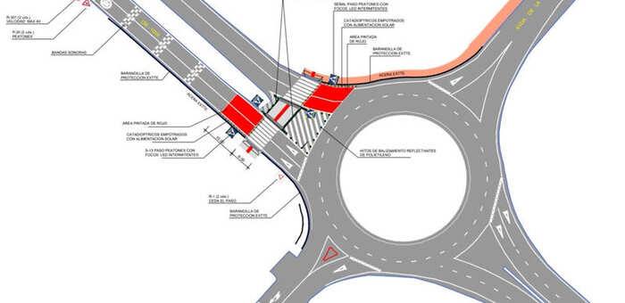 El Ayuntamiento de Azuqueca ejecutará un nuevo paso de peatones en la intersección de la CM-1008 y la avenida de la Industria