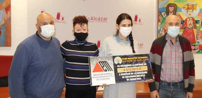 El Club Maratón Altomira de Alcázar de San Juan recaudó 810 euros en la Carrera Solidaria Virtual a favor de la Asociación de Esclerósis Múltiple