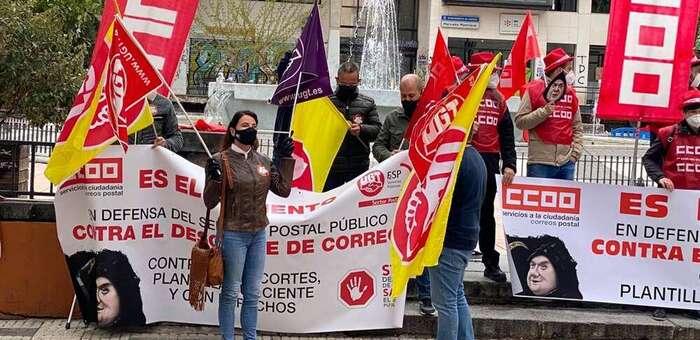 """Delegados y delegadas del sector postal de UGT y CCOO en Cuenca: """"Están aprovechando miserablemente la pandemia para acelerar el desguace de Correos"""""""