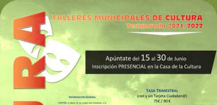 Abierta la inscripción en las actividades municipales de Cultura para el próximo curso
