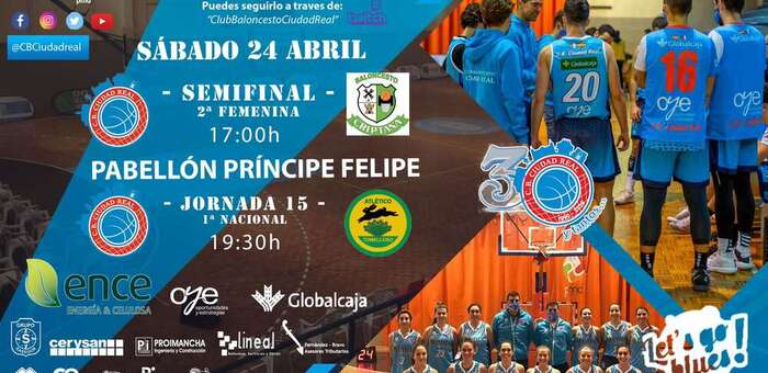 El club baloncesto ENCE Ciudad Real busca la revancha deportiva frente al Basket Atlético Tomelloso