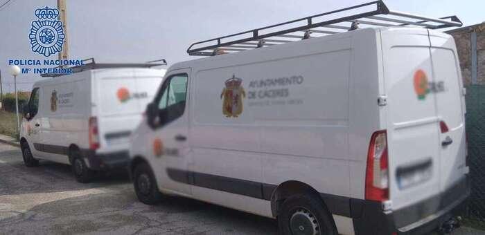 Policía Nacional detiene a una persona por un robo con fuerza en el Polígono de las Capellanías de Cáceres