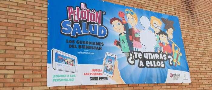 """Coficam inicia en Puertollano la campaña sobre ergonomía postural dirigida a los escolares """"el pelotón salud"""""""