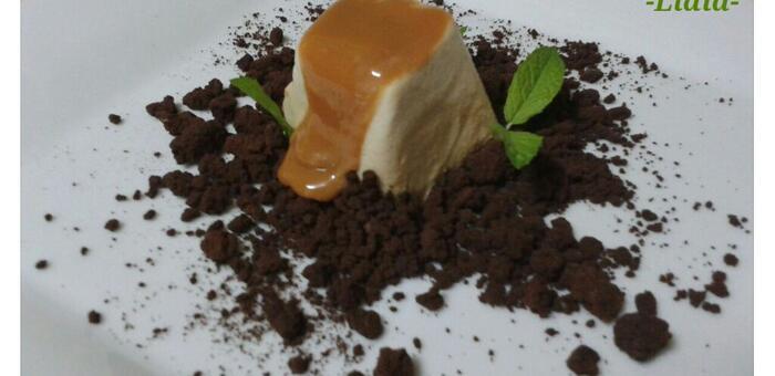 En Objetivo DELICIOSO pastel de verduras y espuma helada de café con dulce de leche