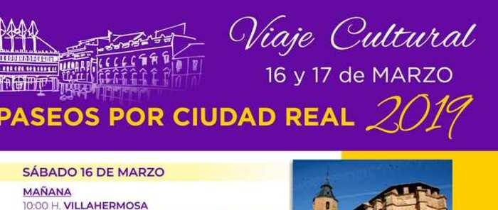 Este año 2019 'Paseos por Ciudad Real' nos lleva a descubrir la riqueza patrimonial de Villanueva de los Infantes y Almagro