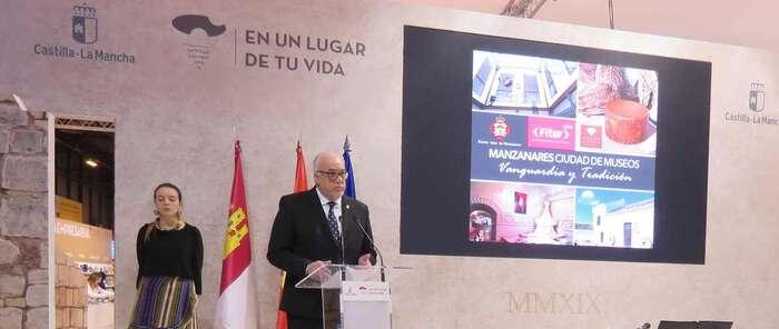 """El alcalde de Manzanares: """"Somos una ciudad que apuesta por el turismo cultural, por el turismo de museos"""""""