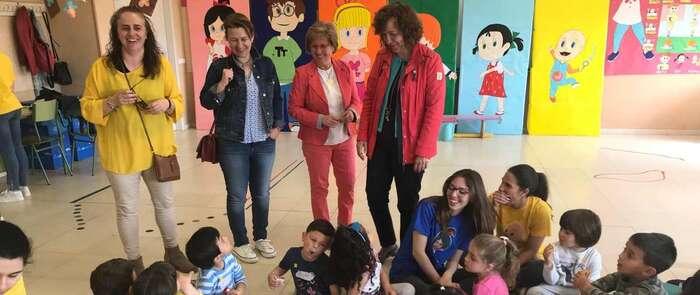 """La alcaldesa de Alcázar de San Juan visitó la EFA """"El Gamonal"""" para conocer el proyecto 2019 del módulo de Educación Infantil"""
