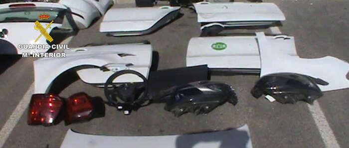 Desarticulan un grupo criminal especializado en la sustracción y desguace de vehículos