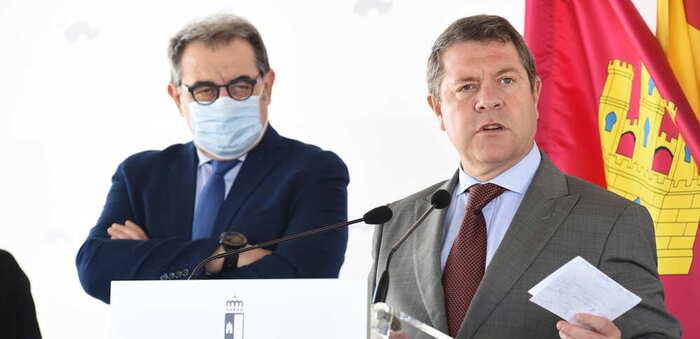 El presidente de Castilla-La Mancha, Emiliano García-Page, ha inaugurado hoy el nuevo helipuerto de Tarancón