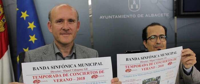La Banda Sinfónica Municipal de Albacete llevará la mejor música al Parque Abelardo Sánchez, todos los jueves desde el 24 de mayo hasta el 19 de Julio