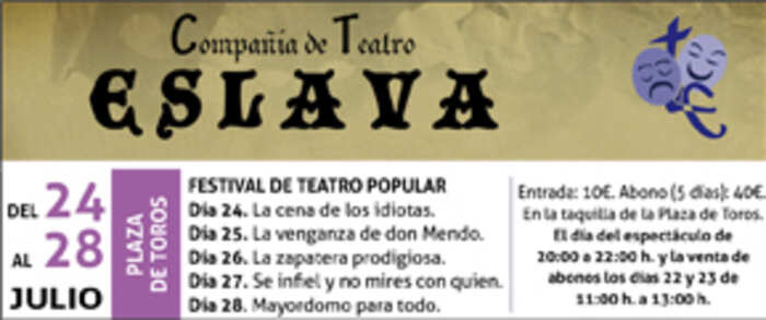 Del 24 al 28 de Julio, Festival de Teatro Popular en la Plaza de toros de Alcázar de San Juan