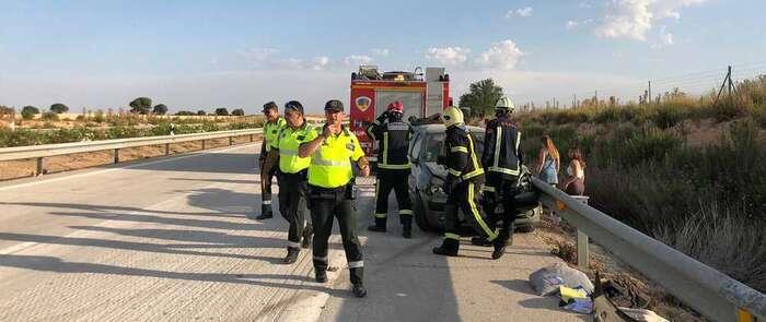 El SEPEI interviene en un accidente múltiple que ha afectado a 4 turismos y 2 camiones en la A-31