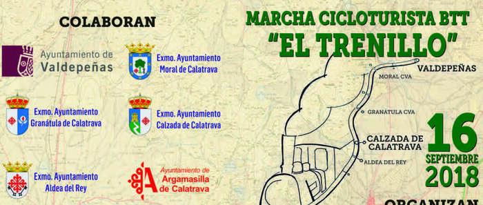 """El Ayuntamiento y el club ciclista de Granátula colaboran en la ruta ciclo-turística de BTT """"El Trenillo"""", entre Valdepeñas y Puertollano"""