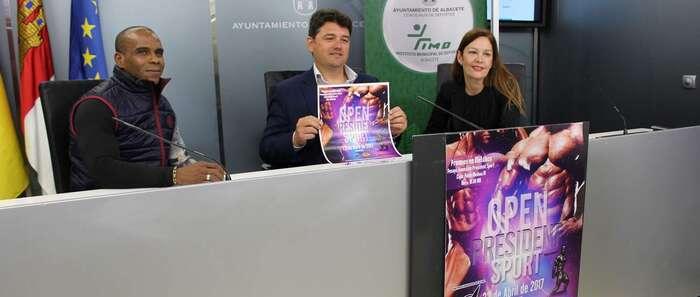 """Grandes figuras del Culturismo y Fitness mundial participarán en el """"Open President Sport"""" el próximo sábado 22 de abril en Albacete"""