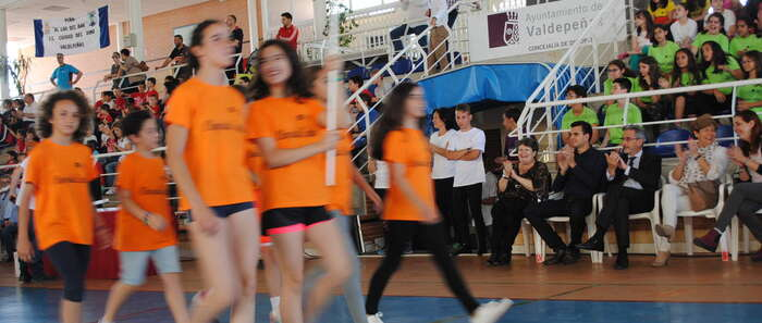 El alcalde de Valdepeñas inauguró las Olimpiadas Escolares 2017
