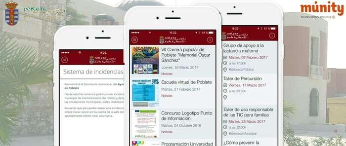 El Ayuntamiento de Poblete pone en marcha una APP de información al ciudadano y un sistema de inscripción online