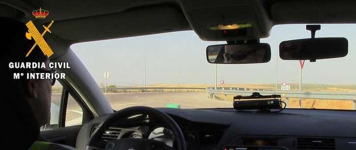 La Guardia Civil de Toledo detecta a una persona circulando a 159 km/h por una vía autorizada a 70 km/h