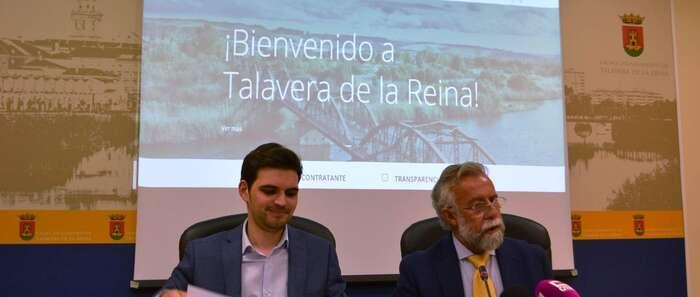 """Ramos presenta la nueva web del Ayuntamiento """"para dar la mejor visión de Talavera y estar en contacto permanente con los ciudadanos"""""""