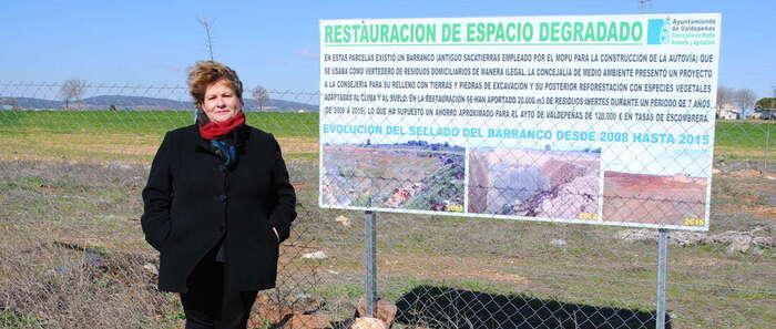 Medio Ambiente finaliza la recuperación medio ambiental de 22.000 m² de escombrera en Consolación