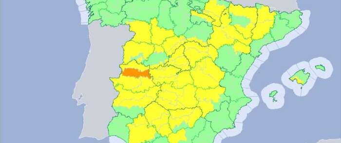 El sur, centro y noreste peninsular en riesgo amarillo por altas temperaturas