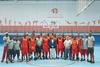 imagen de La selección española de balonmano playa y la angoleña de basket, en Azuqueca