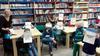 """imagen de Una treintena de niños de Villarrubia  participaron en el Taller  """"El Quijote Ilustrado"""" para celebrar El Día de la Biblioteca"""