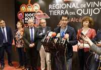 Caballero remarca en Alcázar la importancia de que las Administraciones impulsen el sector y la cultura del vino